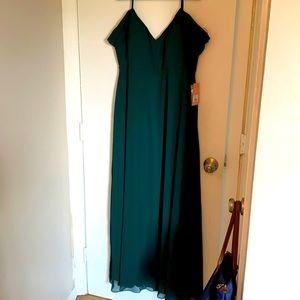 Birdy Grey Devin Forest Green Bridesmaids dress